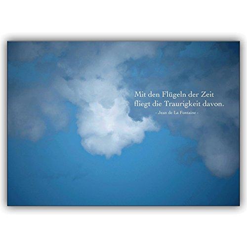 1 rouwkaart: trouwkaart: met de vleugels van de tijd vliegt de trouwheid ervan – invoelbare bijstandkaart om het rouwhuis in diepe rouw te condoleren.