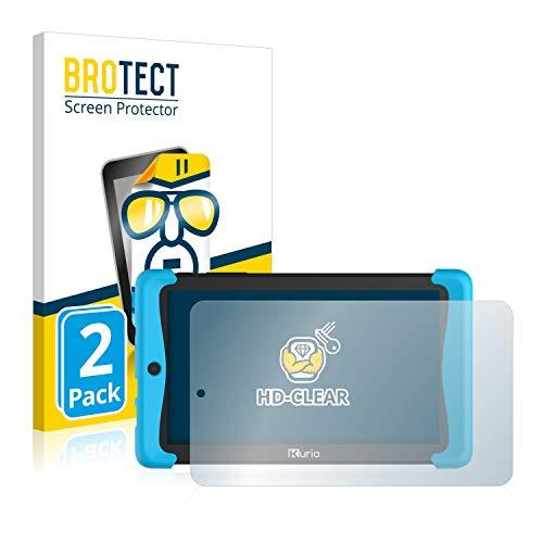 BROTECT Schutzfolie kompatibel mit Kurio Tab 2 Motion 7 (2 Stück) klare Displayschutz-Folie