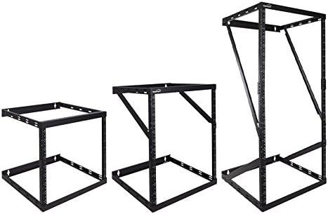 NavePoint 8U/12U/22U Wall Mount Expandable 2 Post Open Frame Height Adjustable Rack
