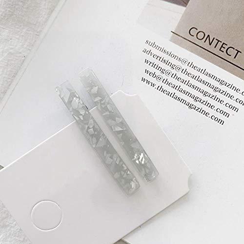 gao Pinzas De Pelo Geométricas Acrílicas Lentejuelas De Papel De Aluminio Brillante Mujeres Niñas Accesorios para El Cabello 1 Par / 2 Piezas