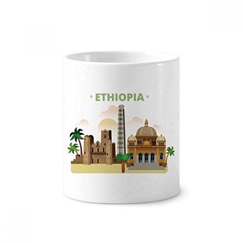 City Castle Äthiopien Keramik Zahnbürste Stifthalter Becher weiß Tasse 350ml Geschenk