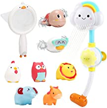 CUTE STONE Bath Toy Bathtub Toy, Battery Operated Water Pump Electric Shower Head, Floating Squirting Toys for Toddles and Babies