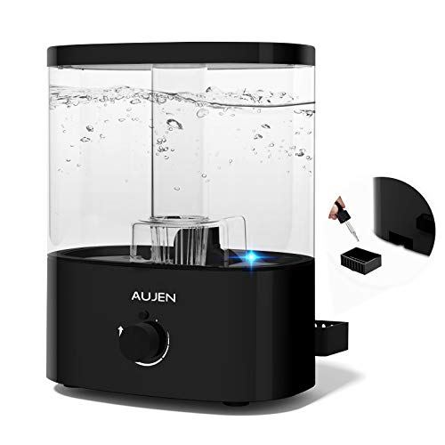 Aujen 5L 超音波加湿器 大容量 2020最新版 加湿器 アロマ 卓上加湿器 除菌 アロマ対応 上から注水タイプ 空焚き防止機能 霧量調節 静音作業 LEDライト付き