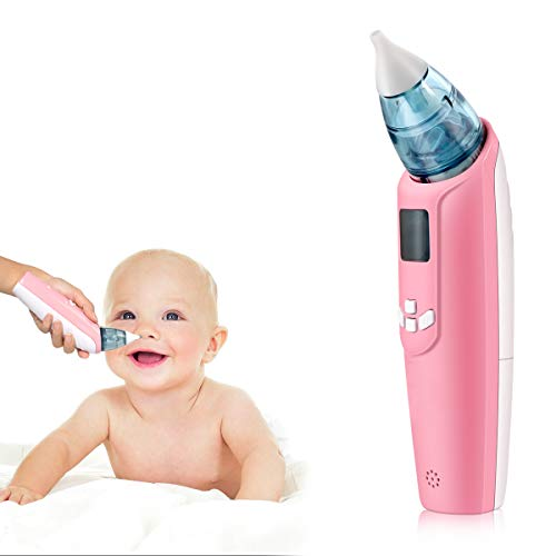 Electric Baby Nasal Aspirator, Safe and Hygienic, Battery Operated Booger Cleaner for Kids(Pink)