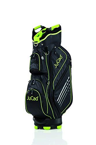 JuCad Bag Sportlight I Golfbag I Golftasche I für 14 Schläger I Schirmhalter I Farbe schwarz-grün