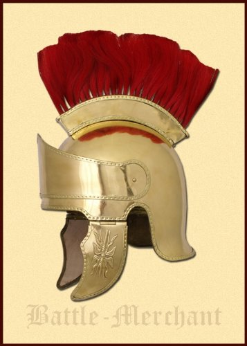 Ático casco de latón con pelo Busch, aprox 300 V, A.C, - griegos
