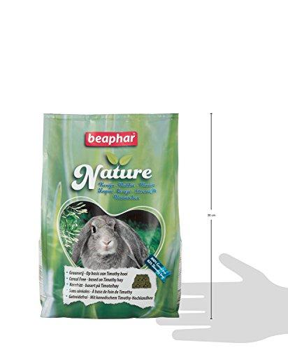 Nature Kaninchen | Getreidefreies Kaninchenfutter | Mit getrockneten Kräutern & kanadischem Timothy Heu | Ohne Konversierungsstoffe | 3 kg - 5