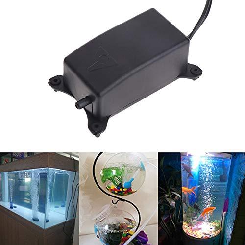 Sysow Sauerstoffpumpe für Aquarium, Hydroponisch, Belüfter, Oxygen Pumpe, Superleise Aquarium Luftpumpe 2W Leistungsstark Sauerstoffpumpe 1.2L/M Geeignet für Fischbecken und Die Nano Aquarien