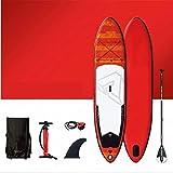 Tabla de Paddle Surf Hinchable Inflables Stand Up Paddle Board con accesorios SUP duraderos y bolsa de transporte |Postura amplia, cubierta no deslizantes, Correa de perro, paddle y bomba de mano, pie