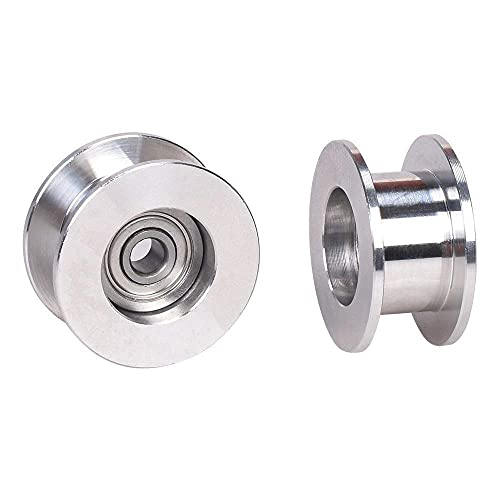 Printer Accessories GT2 Idler Pulley Without Tooth Timing Belt Pulley Wheel 3/5MM Bore Width 6MM 3D Printer Parts for prusa I3 MK3 MK3S Quadcopters accessories (Size : Bore 5mm) ( Size : Bore 5mm )