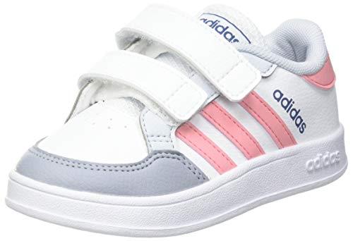 adidas BREAKNET I, Zapatillas de Tenis, FTWBLA/SUPPOP/AZUHAL, 26 EU