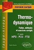 Thermodynamique 1e année MPSI-PCSI-PTSI - Fiches, méthodes et exercices corrigés