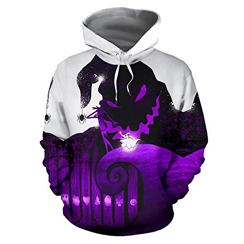 Nightmare Before Christmas Hoodies Kostüm Coole Pullover Sweatshirt Cosplay Langarm Plus Size Mit Kapuze Jack Sally Jacken Mantel für Männer Frauen Jugend