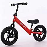 SYGA 12' Children's Balance Bike Gliding Step Two-Wheeled Bicycle Baby Non-Pedaling yoyo 2-3-6 Years Old_Red