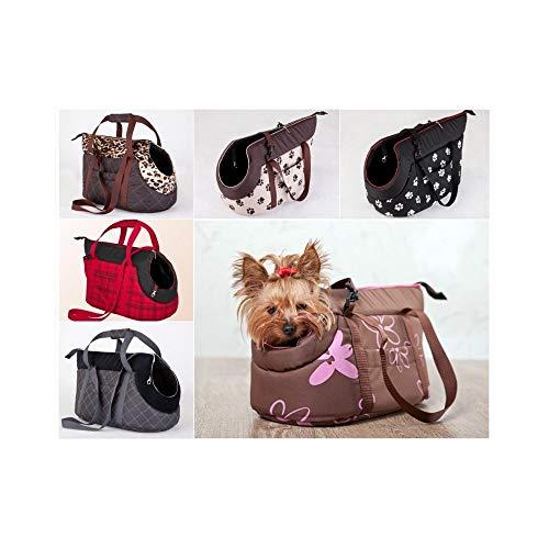 TradeShopOISEART - Borsa per Il Trasporto con Zip TRASPORTINO Cane Gatto Animali Domestici Taglia - 7165 - Taglia L-XL