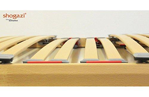 shogazi  Schlafkultur Lattenrost Mellow Flex, 7 cm hoch, 28 Buche-Federleisten, Schulterabsenkung und Einstellbarer Beckenbereich, Größe:80x200