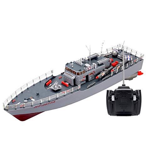 Modelo de Barco Barco de Control Remoto, RC Misil Buque de Guerra Radio Control Remoto Barco Acorazado Crucero Destructor de Buque de Guerra Grande con hélice Cultivo de I