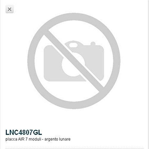 BTICINO LivingLight lnc4807gl – ll-placa Air 7 m argent lunaire