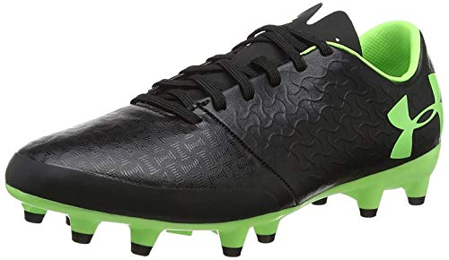 Under Armour Unisex-Kinder Magnetico Select Fg Jr Fußballschuhe, Schwarz (Black/Black/Lime Light (002) 002), 35.5 EU