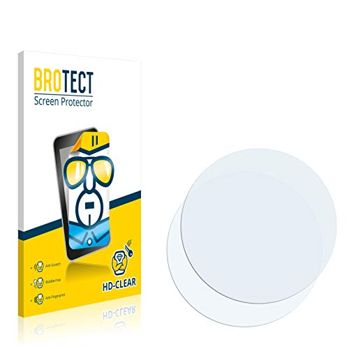 brotect 2-Pack Screen Protector compatible with Circular Displays (Diameter: 40.5 mm) - HD-Clear Protection Film