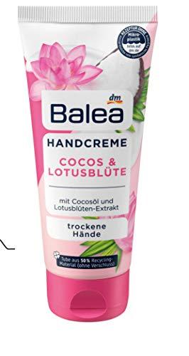 Balea- Handcreme Cocos & Lotusblüte - vegan ohne Aluminiumsalze - 1x 100 ml
