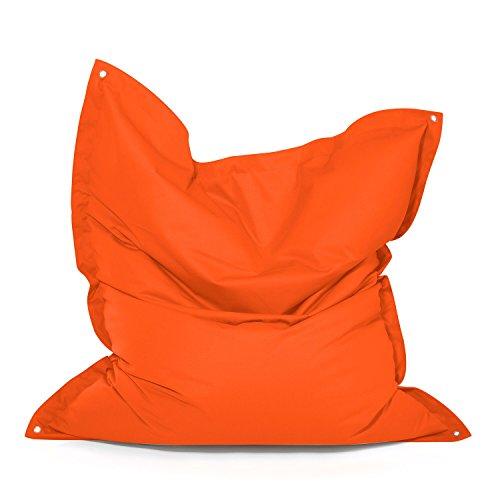 Meadow Plus Outdoor zitzak, weerbestendig, vorstbestendig, tuinstoel, tuinstoel, tuinligstoel voor buiten, lounge, tuinmeubelen, moderne look, kleurrijk groot ca. 160 x 130 cm oranje