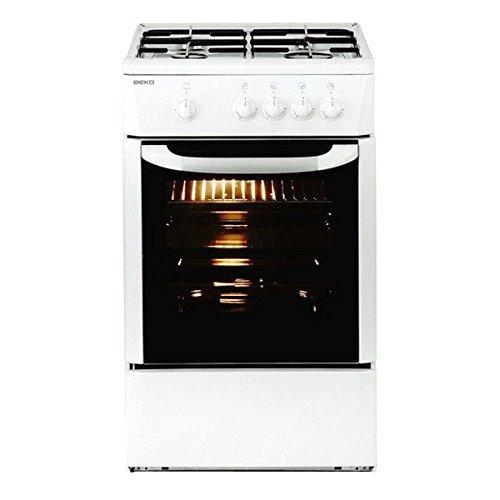 Eurowebb Gasfornuis met oven, 9500 W, 60 cm, wit, complete kookplaat