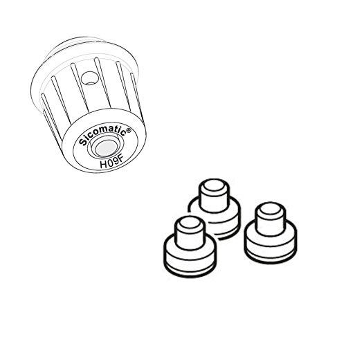 Silit Sicomatic Ersatzteil-Set, 2-teilig, Arbeitsventil und Aromaschutzkappe für alle Schnellkochtöpfe Sicomatic t-plus