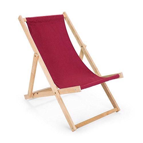 Holz Sonnenliege Strandliege Liegestuhl Gartenliege Bordeaux