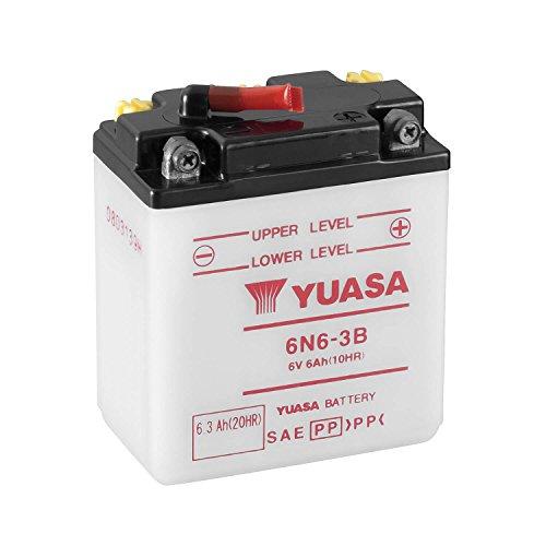 YUASA - Batería 6N6-3B Dry charged (sin electrolito)
