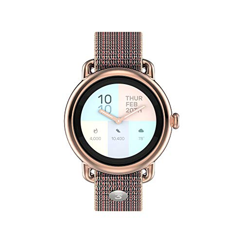 3Plus Helio Hybrid SmartWatch w/Physical Watch Hand + Touch Screen | Heart Rate, Activity Tracker, AMOLED Color Display, Text/Call Alerts | 5 ATM Water Resistant, iOS + Android (41mm Rose Gold)