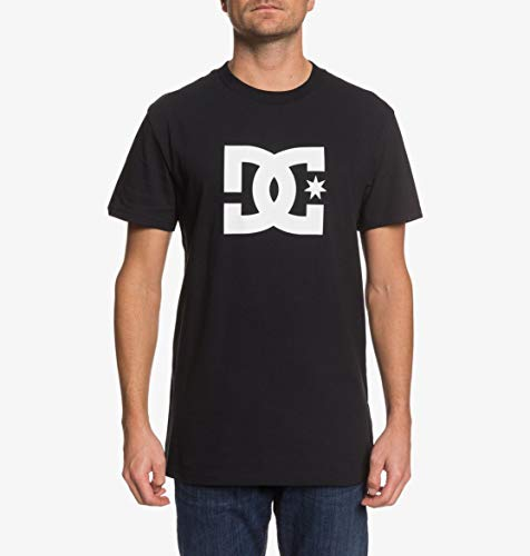 DC Shoes Herren T-Shirt Star - T-Shirt Für Männer, Black/Snow White, XL, EDYZT04083