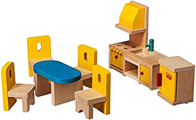 Dragon Drew Dollhouse Furniture - Dollhouse Accessories - Wooden Dollhouse Furniture Set (Kitchen and Dining Room Set)