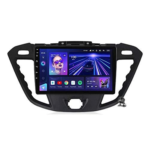 Android 10.0 GPS Estéreo para automóvil, radio compatible con Ford Transit 2013-2018 Unidad principal de navegación Reproductor multimedia MP5 Receptor de video con 4G / 5G WIFI DSP RDS FM Mirrorlink