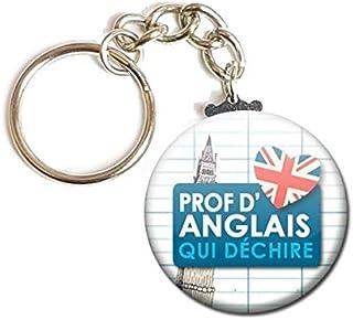 Porte Clés Chaînette 3,8 centimètres Prof d'Anglais qui déchire Idée Cadeau Accessoire Fin Année Scolaire École Professeur...