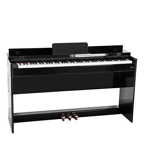 Snjin Pianoforte Digitale Nero a 88 Tasti con Pedale Triangolare in Metallo