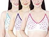 Body Base Women Cotton Non Padded Big Cup Bra (38, 3 Colour Pack)
