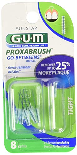 GUM Go-Betweens Proxabrush Refills Tight [414] 8 Each (Pack of 4)