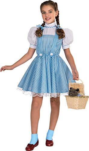 Rubie's 886494 Deluxe-Kostüm Dorothy, der Zauberer von Oz, für Kinder, Größe S (Alter 3-4 Jahre, Höhe 91 cm, 20,3 cm - 122 cm)