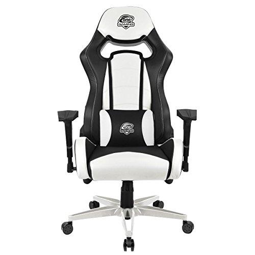 One Gaming Chair Ultra Snow - Ergonomischer Gamingstuhl - Verstellbare Armlehne & Höhe - Inkl. Kissen - Maximalbelastung 130 Kg - Chefsessel - Bürostuhl - Schreibtischstuhl