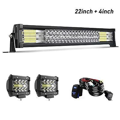 LED Light Bar KEENAXIS W/Rocker Switch Wiring Harness For Polaris RZR Toyota Tacoma Dodge GMC UTV Truck ATV Jeep Golf Cart