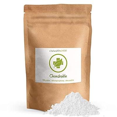 Chondroitin Pulver - 100 g - Chondroitinsulfat - Sulfat, Sulfate - Spitzenqualität - fein gemahlen - OHNE Hilfs- u. Zusatzstoffe - Qualität: MADE IN GERMANY