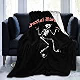 Social Distortion Blanket Super Soft Flannel Plush Fluffy, Light, Warm, Breathable, Comfortable, for Couples and Families. Black