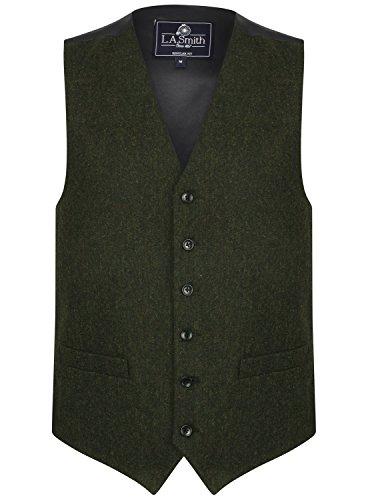 Lloyd Attree & Smith Herren Weste Grün Tweed Design (Größe XL)