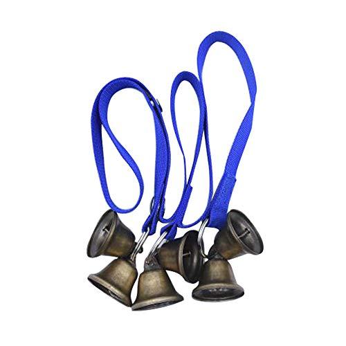 JXLLC Premium Quality Dog doorbell ,Extra Loud Bells Adjustable Pet Door Bell ,Hanging Brass Doorbell for Potty Training Housebreaking Potty Training Your Puppy The Easy Way -Colors (Blue)