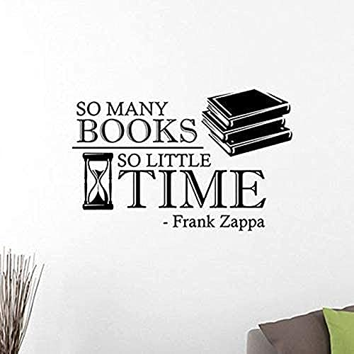 Pegatinas de pared pegatinas de arte y murales murales tantos libros rara vez estudian tiempo para aprender a leer biblioteca escolar 42x63cm
