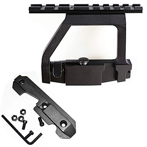 FIRECLUB Scope Side Mount Tactical Heavy Duty Base for 20mm Weaver Scope