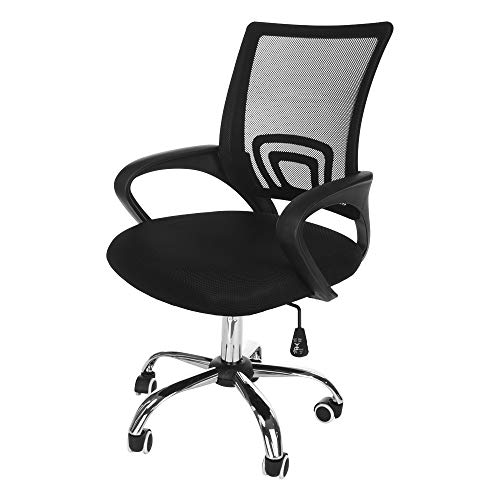 Pstars Office Chair with Lumbar Support, Ergonomic Computer Mesh Chair, Back Executive Chair with Rollerblade Wheels, Size:22×11×21inch, Effective Protection for Lumbar and Cervical Vertebrae Jewelry Organizers