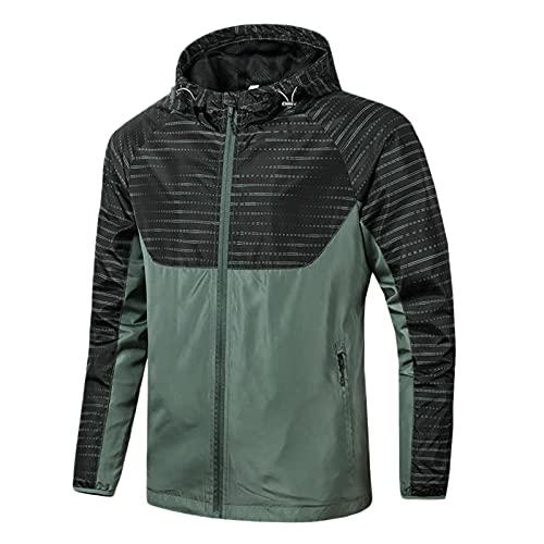 URIBAKY - Abrigo de invierno con capucha, cortavientos para exterior, abrigo delgado, abrigo de...