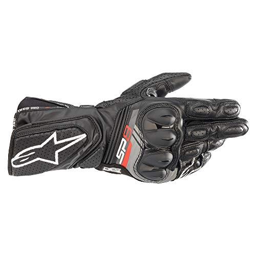 Alpinestars Motorradhandschuhe kurz Motorrad Handschuh SP-8 V3 Sporthandschuh schwarz L, Unisex, Sportler, Ganzjährig, Leder